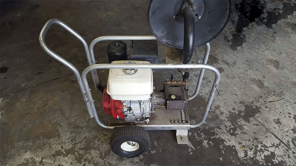 Pressure Washer to Jetter Conversion Before 1024x576 - Hydro Jetter Restoration